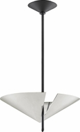 Hudson Valley 9711-PN-BK Equilibrium Contemporary Polished Nickel / Black Hanging Pendant Light