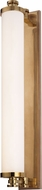 Hudson Valley 9714-AGB Sheridan Contemporary Aged Brass LED 23.5 Bathroom Wall Sconce