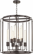 Hudson Valley 9722-OB Hyde Park Contemporary Old Bronze 22  Foyer Light Fixture