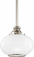 Hudson Valley 9809-PN Canton Polished Nickel Mini Ceiling Pendant Light