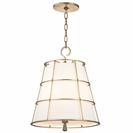 Hudson Valley 9818-AGB Savona Aged Brass Finish 17.75  Wide Hanging Pendant Light