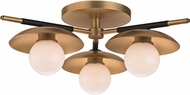 Hudson Valley 9823-AGB Julien Contemporary Aged Brass LED Home Ceiling Lighting