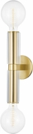 Hudson Valley 9842-AGB Gilbert Contemporary Aged Brass Wall Sconce Lighting