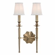 Hudson Valley 9922-AGB Ellery Aged Brass Finish 12.5 Wide Wall Sconce