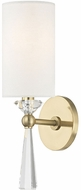 Hudson Valley 9951-AGB Birch Contemporary Aged Brass Sconce Lighting