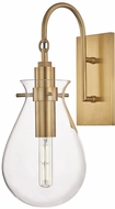 Hudson Valley BKO100-AGB Ivy Contemporary Aged Brass LED Wall Light Sconce