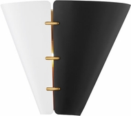 Hudson Valley KBS1352102L-AGB Split Contemporary Aged Brass Wall Lamp