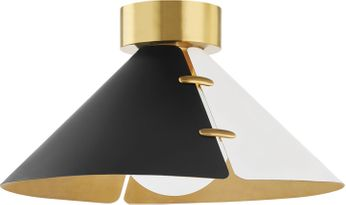 Hudson Valley KBS1352501L-AGB Split Contemporary Aged Brass Ceiling Lighting Fixture