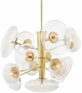 Hudson Valley KBS1471814-AGB Opera Contemporary Aged Brass Ceiling Chandelier