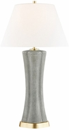 Hudson Valley L1036-CHS Elissa Charcoal Shagreen Lighting Table Lamp