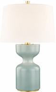 Hudson Valley L1037-TQ Locust Grove Turquoise Small Side Table Lamp