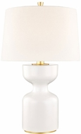 Hudson Valley L1037-WH Locust Grove White Small Table Lamp