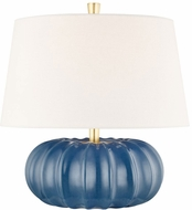Hudson Valley L1047-SBL Bowdoin Slate Blue Small Table Lamp Lighting