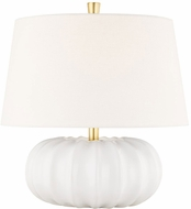 Hudson Valley L1047-WH Bowdoin White Small Table Top Lamp