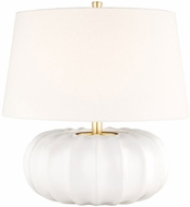 Hudson Valley L1049-WH Bowdoin White Large Table Lamp Lighting