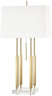 Hudson Valley L1057-AGB Rhinebeck Contemporary Aged Brass Table Lamp Lighting