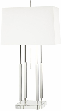 Hudson Valley L1057-PN Rhinebeck Contemporary Polished Nickel Side Table Lamp