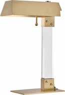 Hudson Valley L1256-AGB Hunts Point Contemporary Aged Brass Desk Lamp