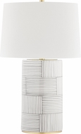 Hudson Valley L1376-AGB-ST Borneo Aged Brass / Stripe Combo Table Lamp Lighting