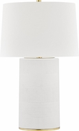Hudson Valley L1376-AGB-WH Borneo Aged Brass / White Table Top Lamp