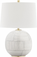 Hudson Valley L1380-AGB-ST Laurel Aged Brass / Stripe Combo Table Lamp
