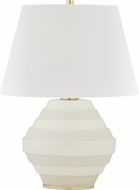 Hudson Valley L1382-AGB-WH Calverton Aged Brass / White Table Lighting