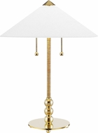 Hudson Valley L1395-AGB Flare Aged Brass Lighting Table Lamp