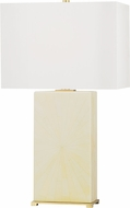 Hudson Valley L1431-AGB-FIH Hewlett Aged Brass / Faux Ivory Horn Table Lamp Lighting