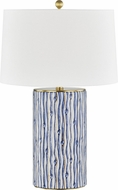 Hudson Valley L1446-GL-BL Bohemia Gold Leaf / Blue Table Top Lamp