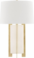 Hudson Valley L1461-CS-AGB Coram Cream Shagreen / Aged Brass Table Light