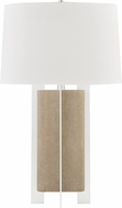 Hudson Valley L1461-FGRY-SS Coram Fog Gray Faux Shagreen / Satin Stainless Table Lighting