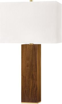 Hudson Valley L1473-AGB Waltham Aged Brass Table Lamp Lighting