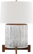 Hudson Valley L1842-AGB-OW Oakham Aged Brass / Off White Table Light