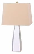 Hudson Valley L484PN Delano Polished Nickel Rectangle Shade Table Lamp With French Wiring & Full Range Dimmer