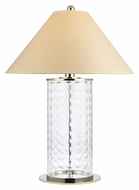 Hudson Valley L534PN Shelby Cut Glass 26 Inch Tall Small Modern Lighting Table Lamp - Polished Nickel