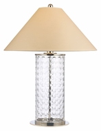 Hudson Valley L536PN Shelby Medium 32 Inch Tall Polished Nickel Finish Cut Glass Lamp