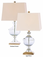 Hudson Valley L746 Clyde Hill Large Clear Body 30 Inch Tall Table Lamp