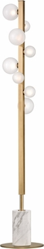 Hudson Valley L808-AGB Mini Hinsdale Modern Aged Brass LED Floor Lamp