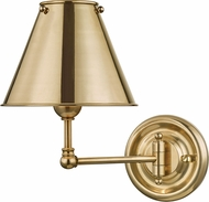Hudson Valley MDS101-AGB-MS Classic No.1 Aged Brass Swing Arm Wall Lamp
