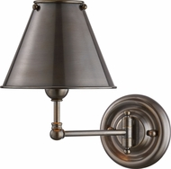 Hudson Valley MDS101-DB-MS Classic No.1 Distressed Bronze Swing Arm Wall Lamp