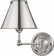 Hudson Valley MDS101-PN-MS Classic No.1 Polished Nickel Swing Arm Wall Lamp