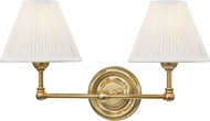Hudson Valley MDS102-AGB Classic No.1 Aged Brass / Off White Silk Wall Sconce