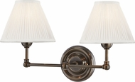 Hudson Valley MDS102-DB Classic No.1 Distressed Bronze / Off White Silk Wall Lighting