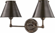 Hudson Valley MDS102-DB-MS Classic No.1 Distressed Bronze Sconce Lighting