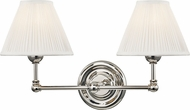 Hudson Valley MDS102-PN Classic No.1 Polished Nickel / Off White Silk Light Sconce