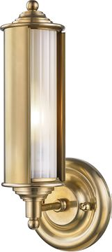 Hudson Valley MDS103-AGB Classic No.1 Aged Brass Lamp Sconce
