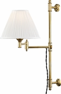 Hudson Valley MDS104-AGB Classic No.1 Aged Brass Wall Swing Arm Lamp