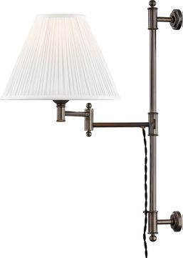 Hudson Valley MDS104-DB Classic No.1 Distressed Bronze Swing Arm Wall Lamp