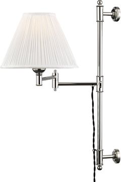 Hudson Valley MDS104-PN Classic No.1 Polished Nickel Wall Swing Arm Lamp