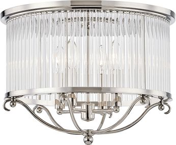 Hudson Valley MDS201-PN Glass No.1 Polished Nickel Ceiling Light